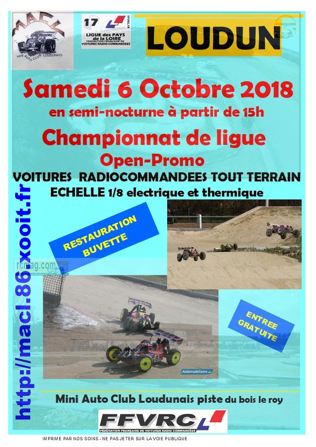 Championnat de Ligue MACL - 6 octobre 2018